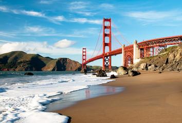 Deurstickers San Francisco Golden Gate Bridge, San Francisco