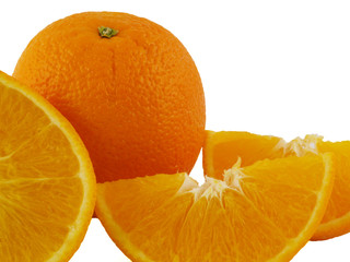 Oranges, Cut and Isolated