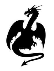 "Silhouette de Dragon  ""Dragonus Mythicus """