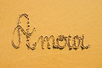 amour sur le sable