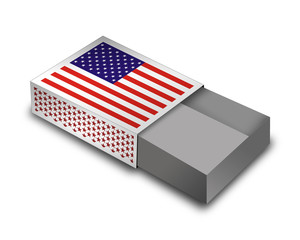 Empty Matchbox - USA