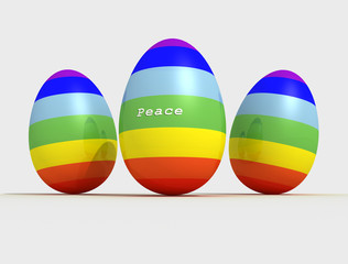 peace easter eggs