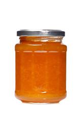 Peach jam glass jar