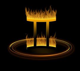 hot zodiac symbol = the gemini