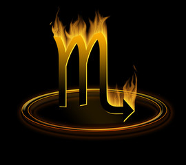 hot zodiac symbol = the scorpio