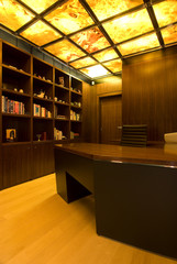 contemporary loft library