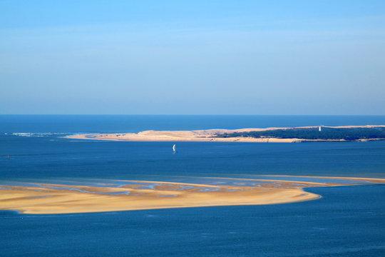 le banc d'arguin depuis la dune du pilat