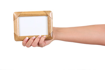 frame in woman's hand