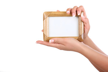 frame in woman's hands