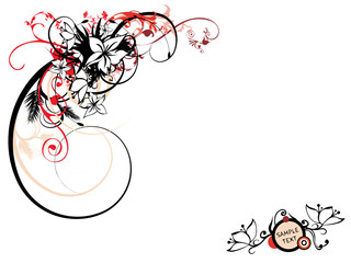 abstract creative floral corner background