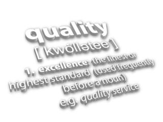 """Quality"" definition (3D)"
