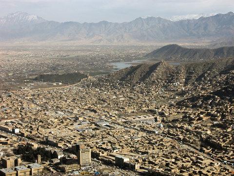 Afghanistan Kabul vom Koh-e-Asmani
