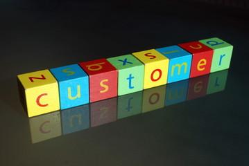"""""""Customer"""" (wooden blocks)"""