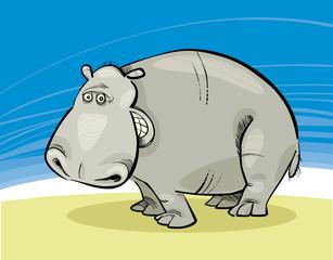 Illustration of funny Hippopotamus smiling