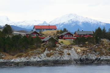 Foto op Aluminium Arctica Côte norvégienne