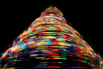 Long eposure on rotating optical fibre christmas tree