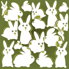 rabbits background