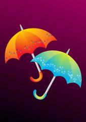 Set of umbrellas