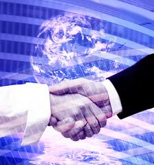 Handshake modern background
