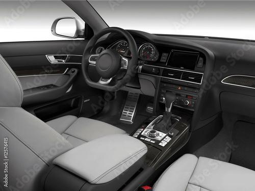 Interieur voiture luxe photo libre de droits sur la for Interieur voiture de luxe