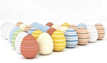 coloured striped eggs