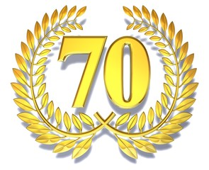 70 birthday laurel wreath