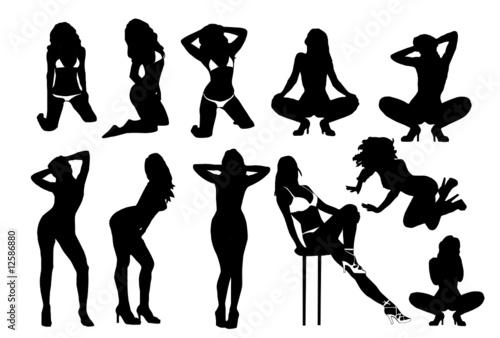 b991844dc Set of vector girls in lingerie