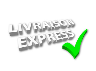 """""""Livraison Express"""" (3D - avec coche)"""