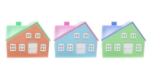 Plastic Miniature Houses