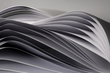 Waved paper pages
