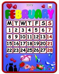 calendar february 2010