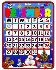 calendar december 2010
