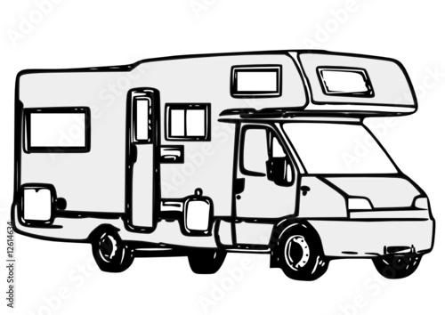 Camaping car capucine fichier vectoriel libre de droits sur la banque d 39 images - Dessin a colorier camping car gratuit ...