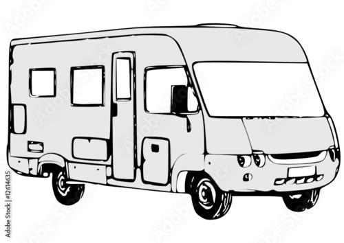 Camping Car Dessin dessin de camping car - akoi