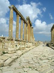 Säulengang, Ruinen von Jerash, Jordanien