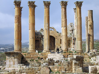 Ruinen des Artemis-Tempel von Jerash, Jordanien, Dekapolis
