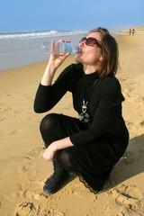 faire une pause pour boire de l'eau