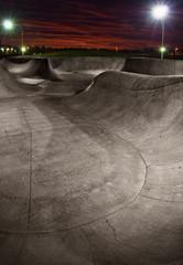 Skatepark at Sunset