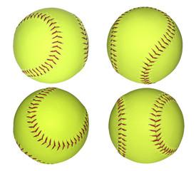 Baseball balls isolated on white.