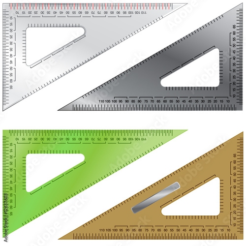 Vector set of drafting triangles\