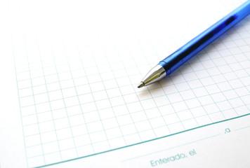 Bolígrafo azul