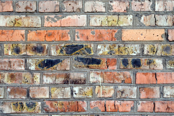 old wall from a red brick. background 1