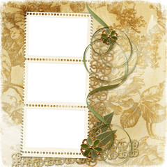 Grunge victorian background with stamp-frame