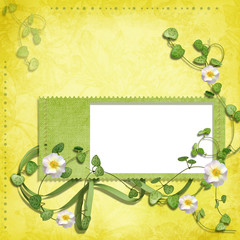spring frame with flowers
