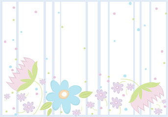 Background with spring flowers