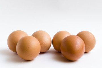huevos en grupos de tres
