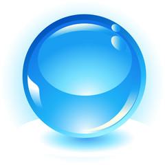 aqua sphere vector button