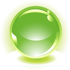 green environmental sphere vector icon