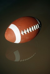American Football with reflection
