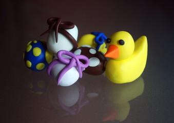 Poulette & Oeufs de Pâques